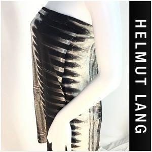 Helmut Lang Silk Bra Top Black & White Dress